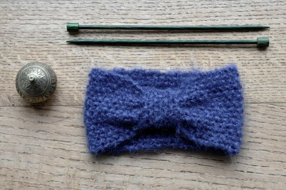 Que diriez-vous d'un petit bandeau douillet, en laine mohair ultra douce ?