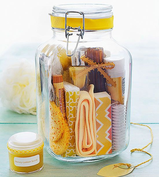 Bring a little sunshine to someone special with a honey-and-lemon-themed pampering treat-yourself #spa kit.