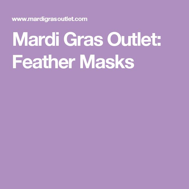 Mardi Gras Outlet: Feather Masks