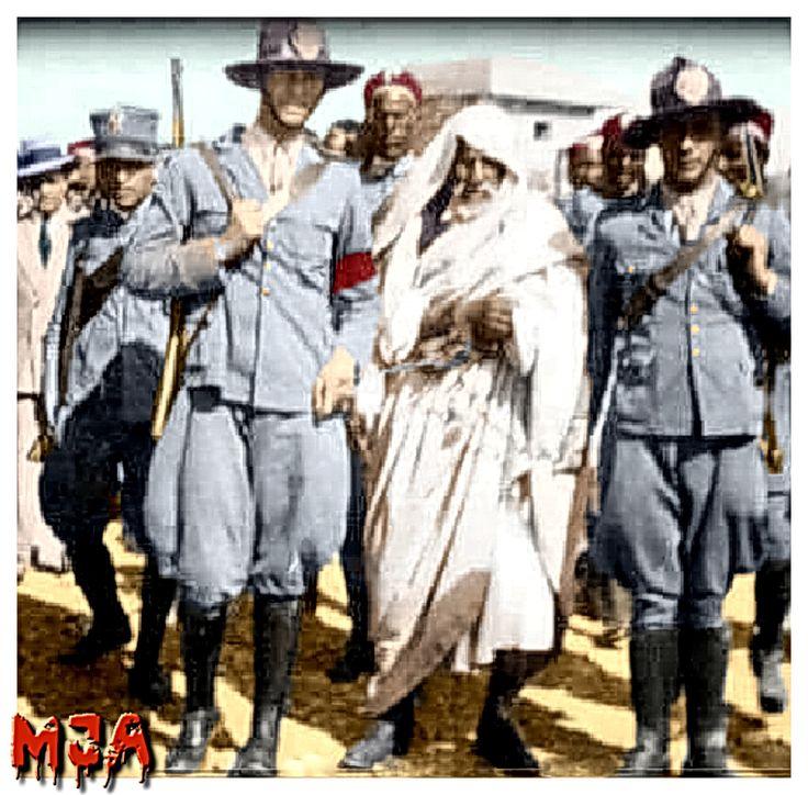 قائد ادوار السنوسية عمر المختار في الاسر مكبلا بالاصفاد بعد مسيرة عظيمة من الكفاح الوطني History Pictures Black History Facts History Facts