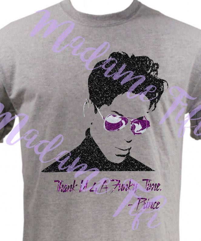 Prince Thank U 4 A Funky Time T-shirt  2.0 Made to Order Darling Nikki Purple Rain by MadameFifisEmporium on Etsy