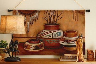 southwestern decor | Southwestern Decor Pottery Tapestry Wall Hanging New | eBay