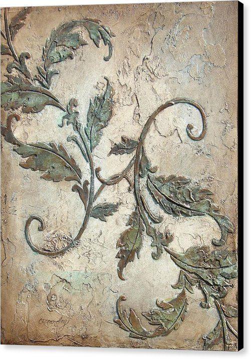 Copper leaves canvas print canvas art by chris brandley