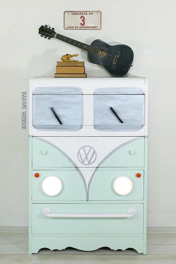 Vw Bus Chest Of Drawers Retro Dresser Nursery Furniture
