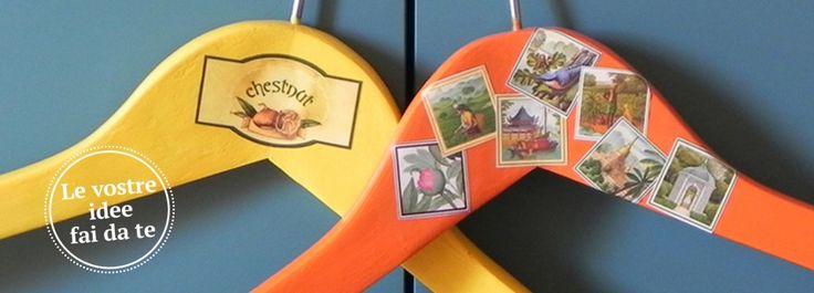 """#Grucce & """"ometti"""" multicolor per appendere abiti  Per l'armadio dei grandi ma anche e soprattutto per quelli dei bambini, da decorare con i disegni dei loro animali preferiti. Per la nostra iniziativa """"Il tuo fai da te diventa protagonista"""", ecco le grucce decor di Barbara B. http://www.cosedicasa.com/fai-da-te/"""