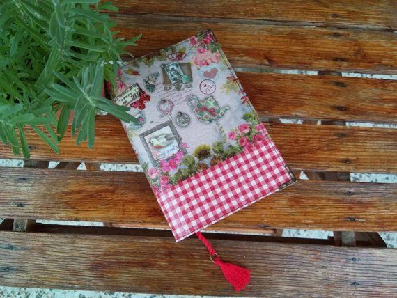 Handmade book cover, nice gift for book lovers, decoupage