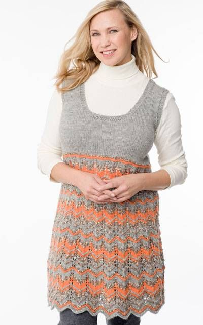 Trendy tunic for winter time.       Instructions in Finnish at Novita.fi