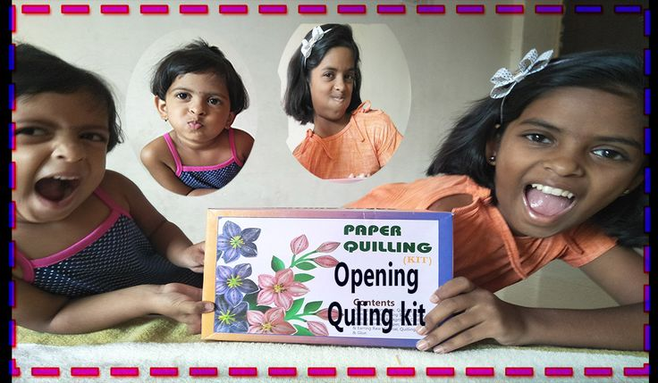 Quilling opening kit by Vedu and Bhavi in wonderland