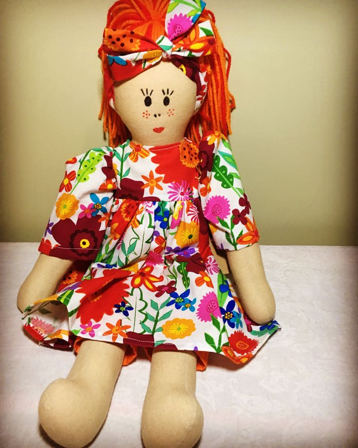 Maisie - Old school style cloth doll. Designed and handmade by The Little Burro Co.