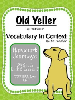 Printables Old Yeller Worksheets old yeller worksheets bloggakuten vocabulary houghton mifflin harcourt