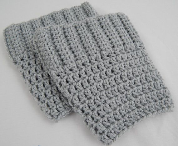 Light Grey Boot Cuffs Womens Crochet Boot Socks Knit Boot Toppers Fall and Winter Leg Warmers #fashion #etsyretwt