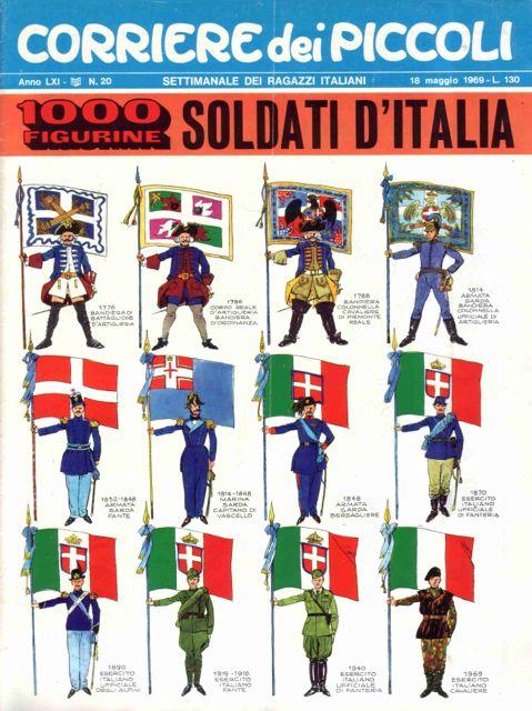 1969 - 20 - Toppi - Soldati d'italia: Portabandiera 1776-1969