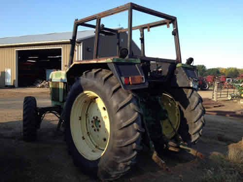 John Deere 3130 tractor salvaged for used parts. Call 877-530-4430 for the best selection of used ag parts. http://www.TractorPartsASAP.com