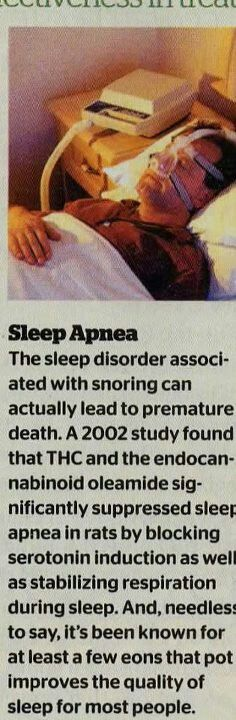 Sleep is just another thing that weed can help with. Many people have trouble sleeping and some even have severe sleep apnea and weed can help with this issue and actually help people with it live longer,