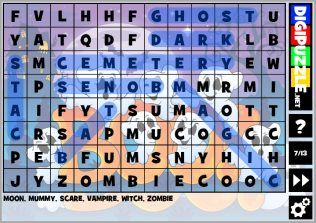 Halloween Wordsearch Puzzles