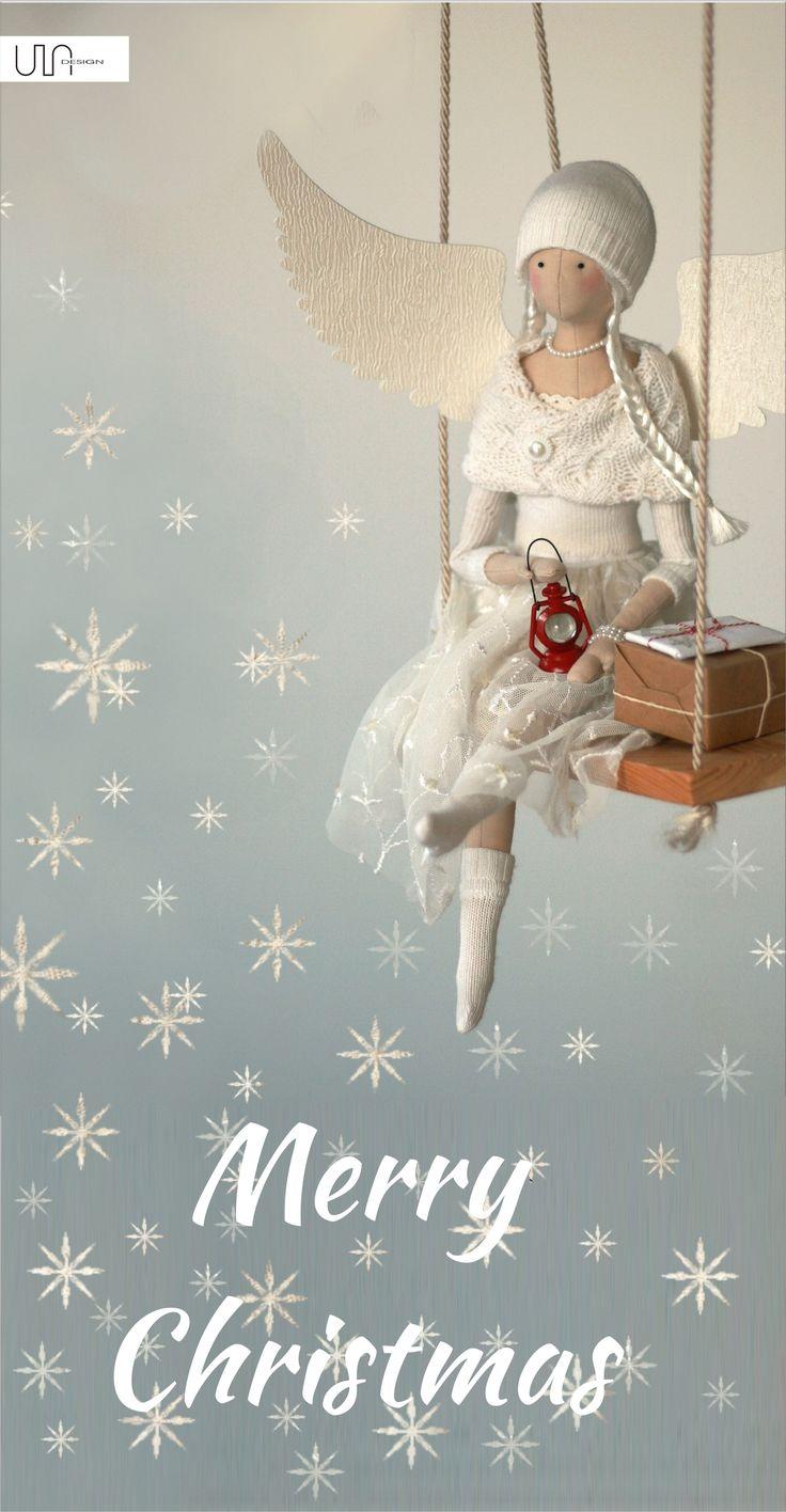 Merry Christmas angel tilda handmade