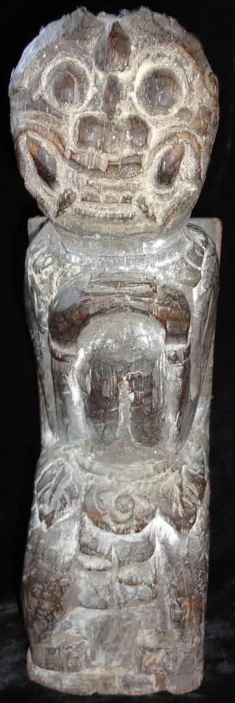 Balinese Raksasa Wood Statue Figur Tribal Ritual Hindu Collectable Art Sculpture #Indonesian