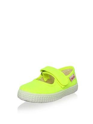 45% OFF Cienta Kid's Mary Jane Sneaker (Neon Yellow)