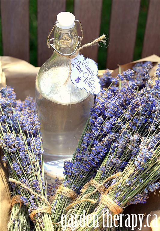 Make Lavender linen water - an essential recipe for the laundry room