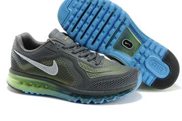 Air Max 2014 Trainers Grey Yellow Blue Nike Running