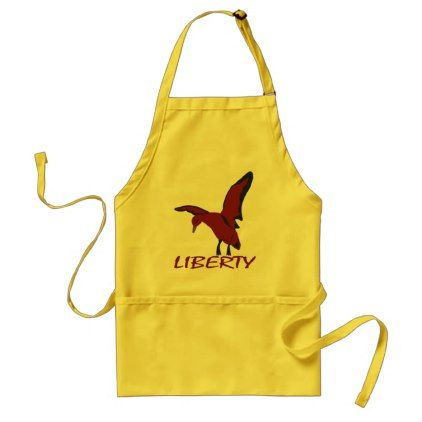 Duck liberty adult apron - drawing sketch design graphic draw personalize