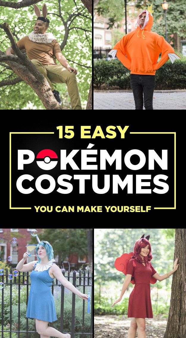 15 Ridiculously Easy Pokemon Halloween Costumes You Can Make For $30