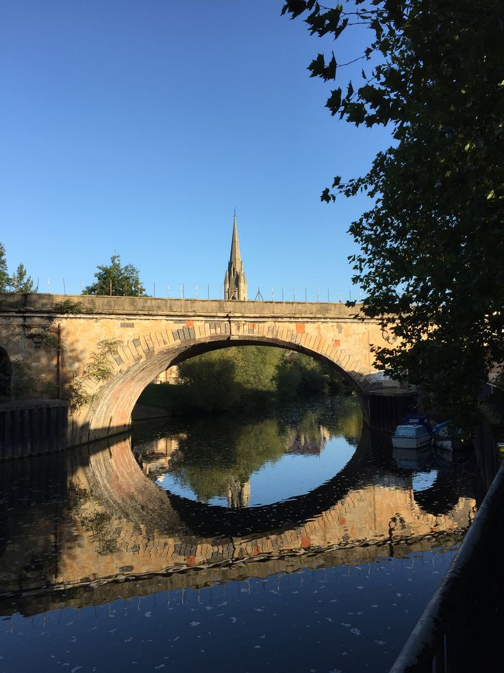 Railway bridge on an angle crossing the River Avon with