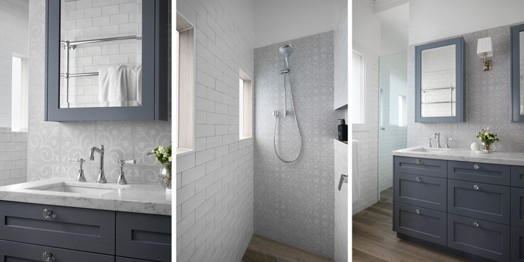 Hampton style bathroom in our Brighton home. Designed and built by smarterBATHROOMS+