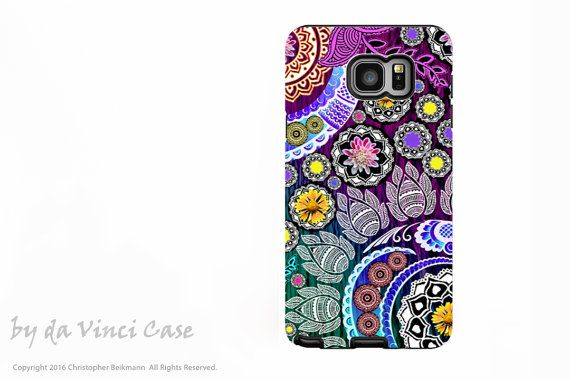 Paisley Floral Galaxy Note 5 Case - Premium Dual Layer Galaxy Note Case with…