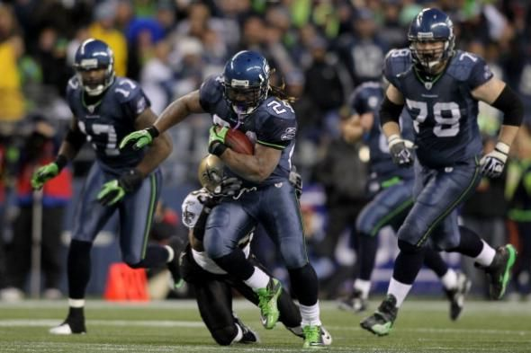 """Seahawks running back Marshawn """"Beast Mode"""" Lynch is an NFL fan favorite, beloved for his tough, indefatigable running style and for personality quirks ..."""