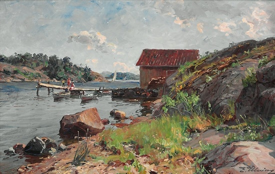 Even Ulving 1863-1952: Sommerdag, Nøtterø