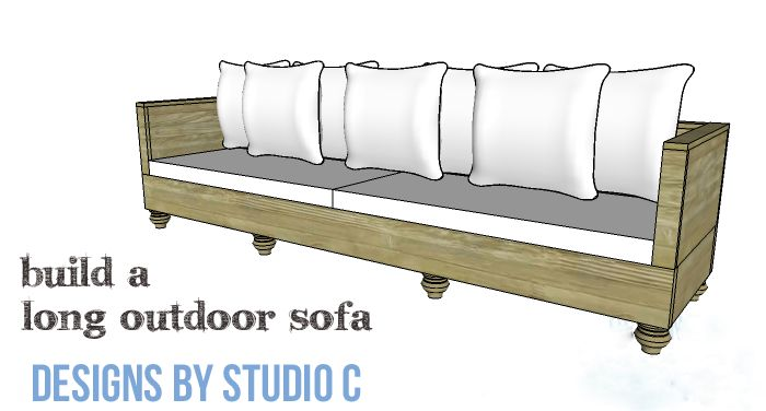 Diy furniture plans to build a long outdoor sofa copy for Build your own sectional sofa plans