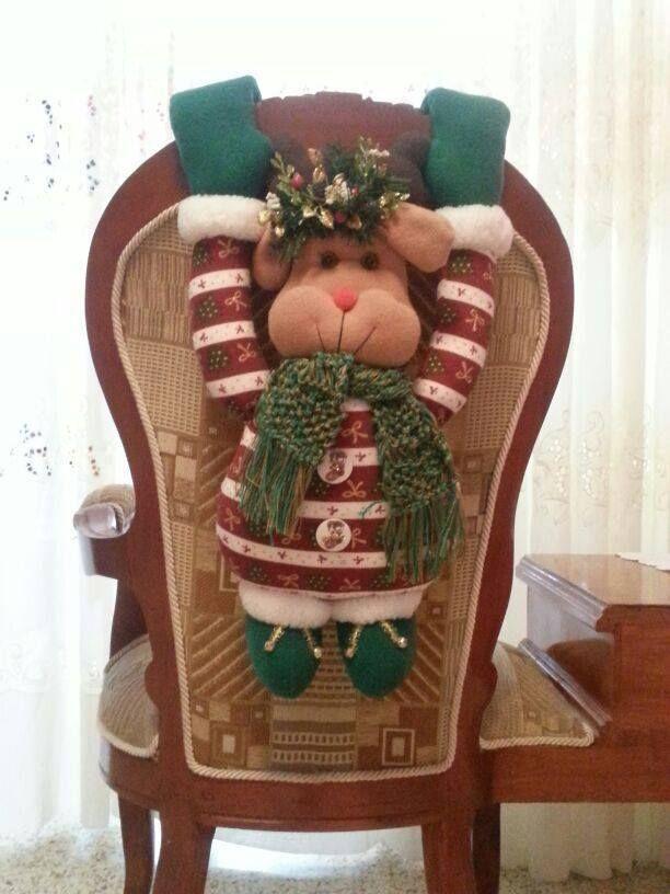 hermoso forro de silla de reno