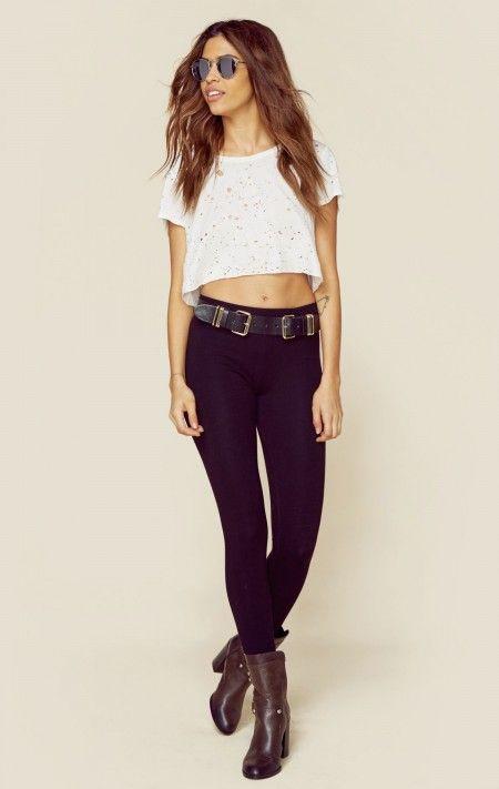 Sundry The Looks Model Off Duty Yoga Pants Fashion Boho