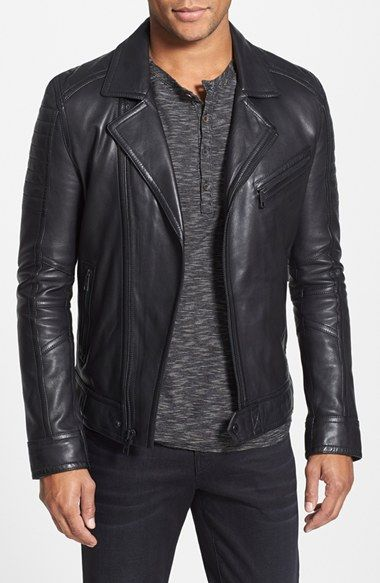 Andrew Marc 'Brayden' Quilted Leather Moto Jacket (Online Only) available at #Nordstrom