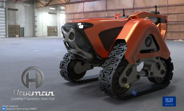 Harman Is A Compact Mini Tractor Concept Designed For