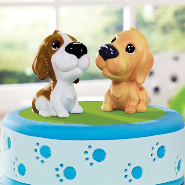 Dog cake toppers.
