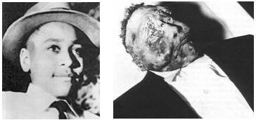 Emmett Louis Till (July 25, 1941 – August 28, 1955) was an African-American boy murdered in Mississippi at the age of 14 after reportedly flirting with a white woman. Till's mother insisted on an open casket funeral. The images of Till's mutilated body, plus the subsequent acquittals and confessions of the murderers, made international news and directed attention to the rights of the blacks in the U.S. South. Till's case became emblematic of the disparity of justice for blacks in the South.