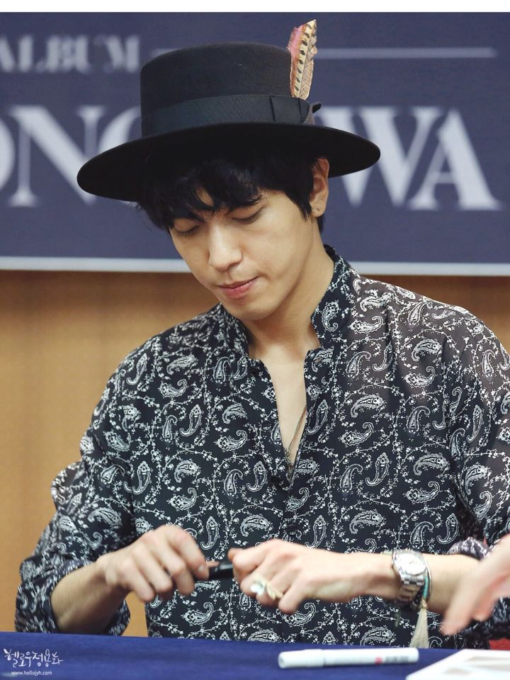 150124 Jung Yong Hwa (CNBLUE) 'One Fine Day' Fan Sign Event @ Ilsan, Seoul.