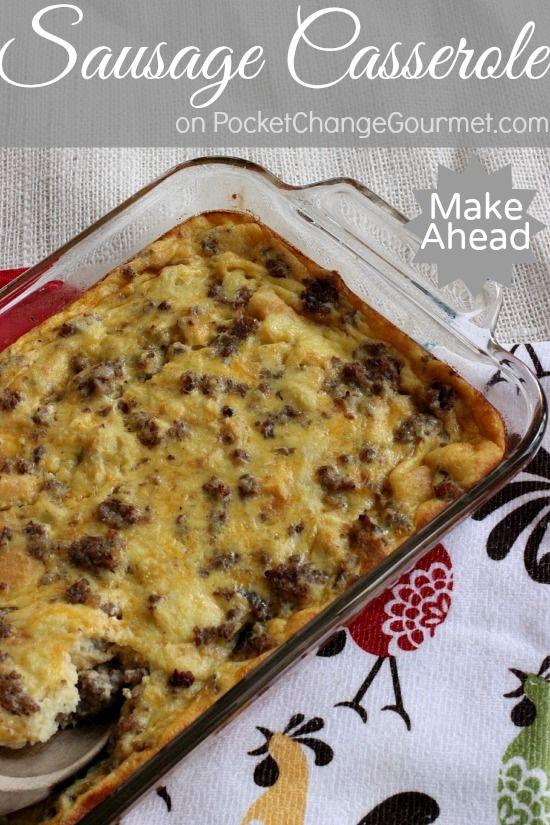 Make Ahead Sausage Casserole - Perfect for a Hostess Gift   Recipe on PocketChangeGourmet.com