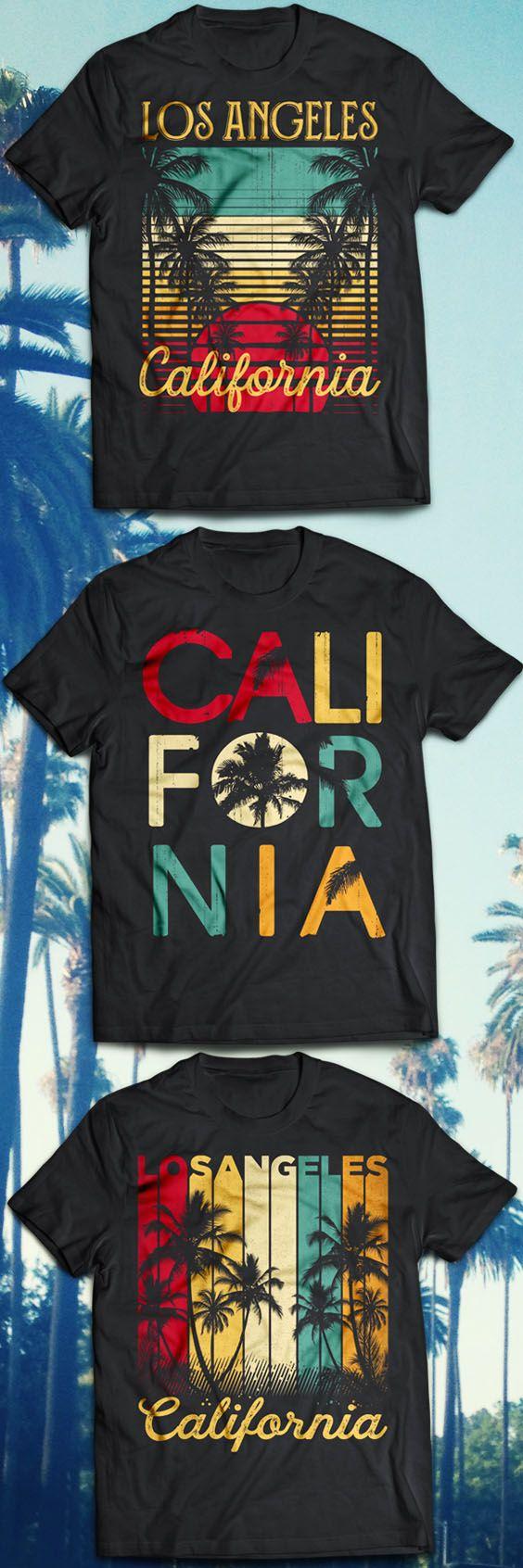 Los Angeles California Vintage Series. Palm Trees