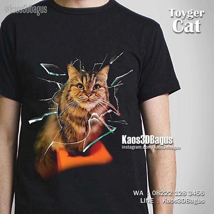 Kaos KUCING, Toyger Cat Tshirt, Kaos3D, Kaos Gambar Kucing, Kaos Kucing Lucu, Kaos Penyayang Kucing, Kaos Cat Lover, Animal Lovers, https://instagram.com/kaos3dbagus, WA : 08222 128 3456, LINE : Kaos3DBagus