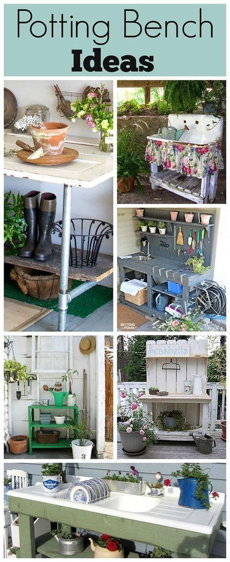 91 best Garden work benches images on Pinterest | Gardening, Potting ...