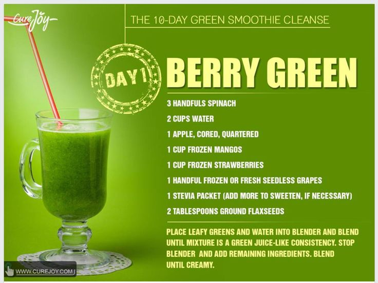 Berry Green Smoothie- No Stevia needed!