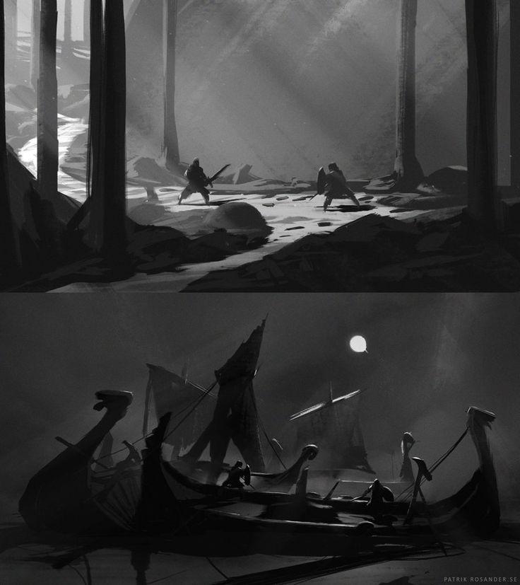 Compositions 01, Patrik Rosander on ArtStation at https://www.artstation.com/artwork/compositions-01