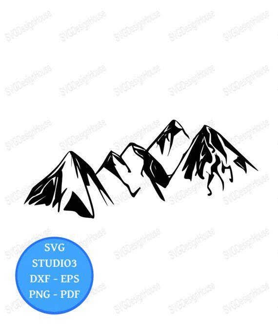 Mountain Range Svg Landscape Scenery Clipart Png Eps Pdf Cricut Studio3 Cricut Silhouette 0139 Clip Art Landscape Scenery Scenery