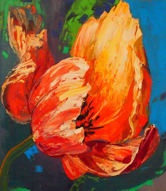 Red tulip от ARTAnhelHahamus на Etsy