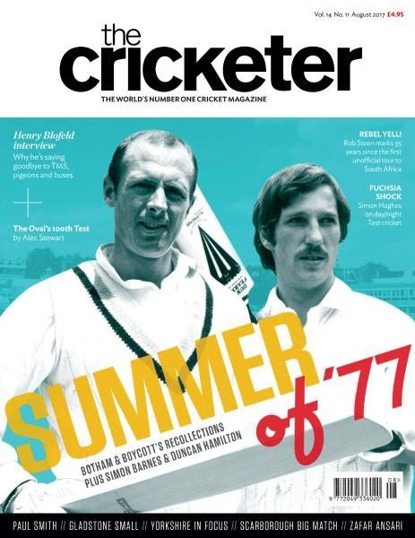 The #Cricketer #Magazine #August 2017 https://www.magazinecafestore.com/the-cricketer-magazine.html Sir #Ian #Botham tells The Cricketer about his Test debut 40 #summers ago #Sports