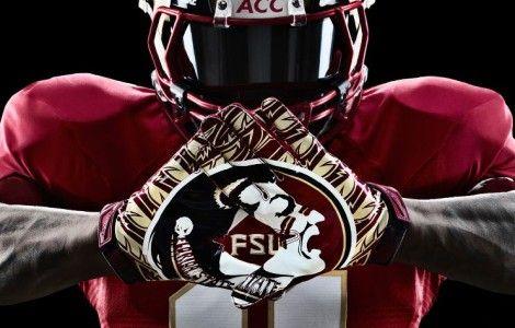 Florida State Seminoles Nike Pro Combat Football Gloves ...