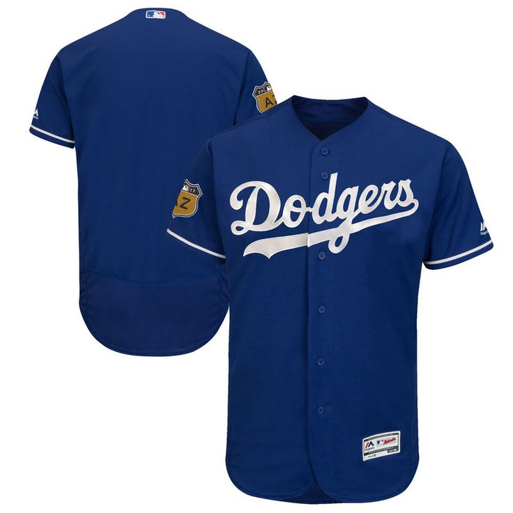 Los Angeles Dodgers Majestic 2017 Spring Training Authentic Flex Base Team Jersey - Royal